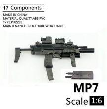 Сувенирная сборная модель Пистолет-пулемет HK MP7 A1 1:6