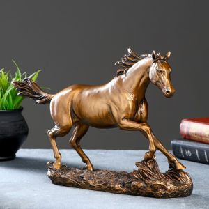 "Фигура ""Бегущий конь"" бронза 35х9х22см   4793781"