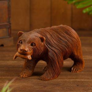 """Сувенир """"Медведь на рыбалке"""" дерево 25х10х12 см   4575165"""