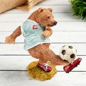 "Фигурка полистоун ""Медведь с мячом"" 10.2х5.5х10 см 4900427"