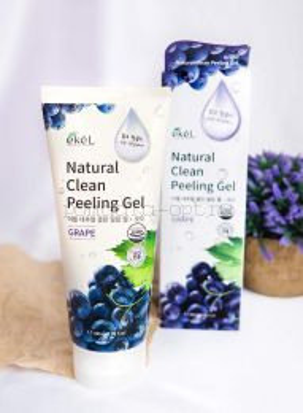 Виноградный пилинг-скатка Ekel Natural Clean Peeling Gel Grape