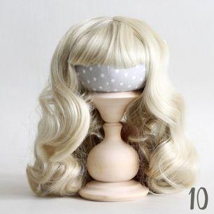 Волосы для кукол Кудри (парик) с челкой светло-русый
