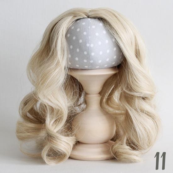 Волосы для кукол Кудри (парик) без чёлки блонд