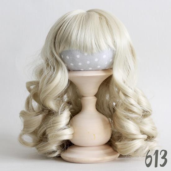 Волосы для кукол Кудри (парик) с чёлкой (блонд)
