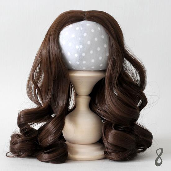 Волосы для кукол Кудри (парик) шатен