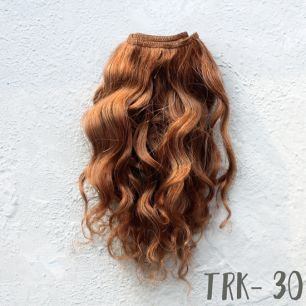 Тресс натуральный (козочка) рыже-коричневый кудри