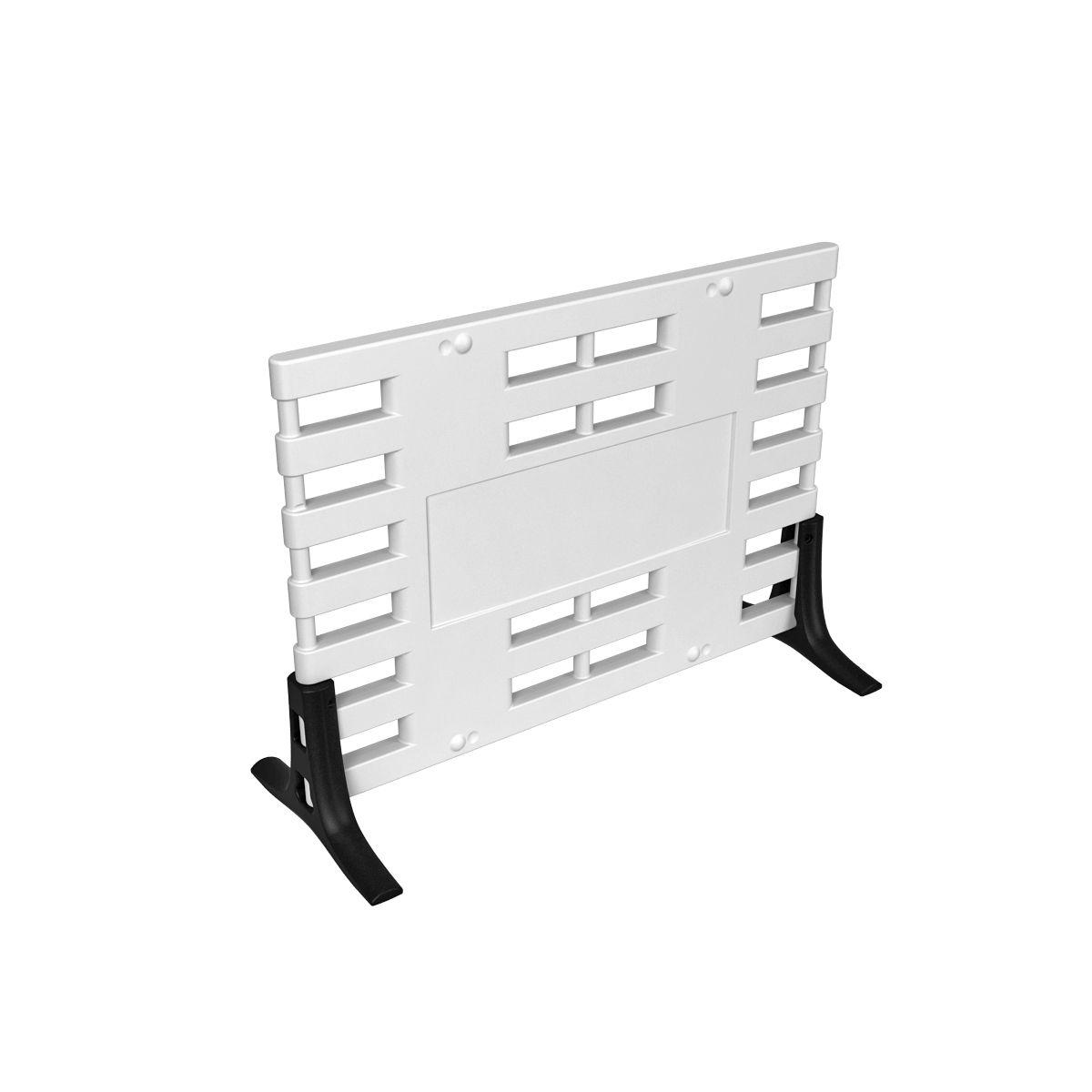 Ограждение барьерное ARGO с пластиковыми опорами белый