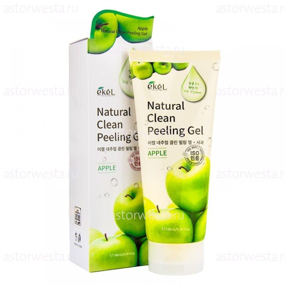 Ekel Natural Clean Peeling Gel Apple, 180 мл Пилинг-скатка для лица с экстрактом Яблока