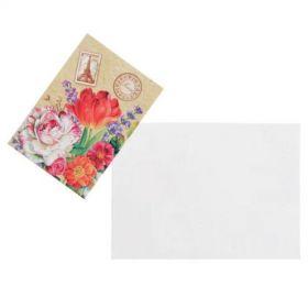 """Открытка-шильдик """"Цветочная"""" почтовая марка"""