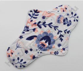 Ночные гигиенические прокладки Синие цветы