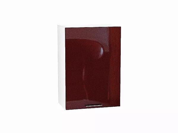 Шкаф верхний Валерия В500 (гранатовый металлик)