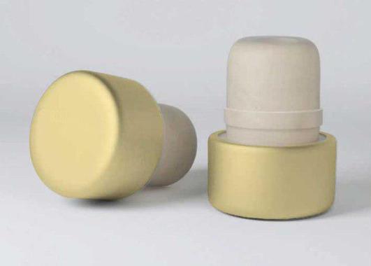 Т-образная полимерная пробка Камю, золотистый алюминиевый верх, 19,5 мм