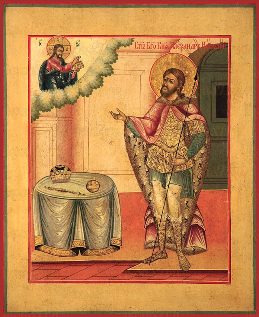 Икона Александр Невский благоверный князь