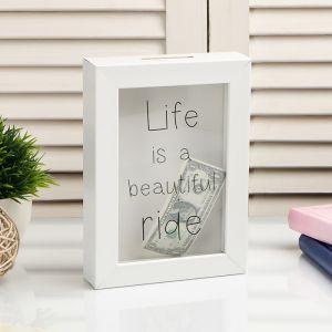 """Копилка интерьерная пластик """"Жизнь - это прекрасная дорога"""" 17х12х3,8 см   4785399"""