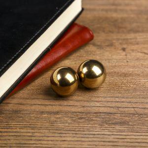 """Магнитные шары """"Золотые"""" набор 2 шт d=2,5 см   4098256"""