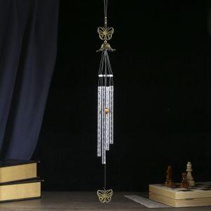 """Музыка ветра металл """"Бабочки"""" 4 трубки 60 см   3505590"""