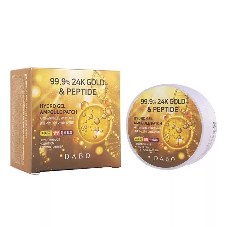 Гидрогелевые патчи с 24х каратным золотом и пептидами Dabo 24K Gold &Peptide,60шт (KOREA ORIGINAL 15501)