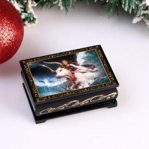 Шкатулка «Божественная Корова», 6х9 см, лаковая миниатюра 4997028
