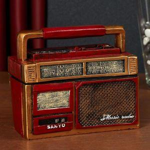 """Шкатулка полистоун """"Старый радиоприёмник"""" МИКС 13,3х16х8 см   5050979"""