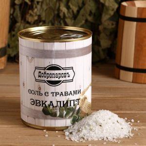 """Соль для бани с травами """"Эвкалипт"""" в банке 5101936"""