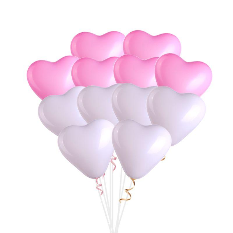 Акция! 25 бело-розовых сердец!