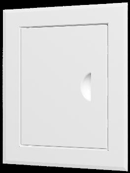 Люк-дверца ревизионная 260х460 с фланцем 200х400 с ручкой стальная с покрытием полимерной эмалью