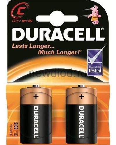 Алкалиновая батарейка LR-14 DURACELL
