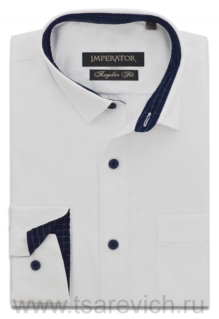 "Рубашки ПОДРОСТКОВЫЕ ""IMPERATOR"", оптом 12 шт., артикул: PT2000/2 А-П белая"