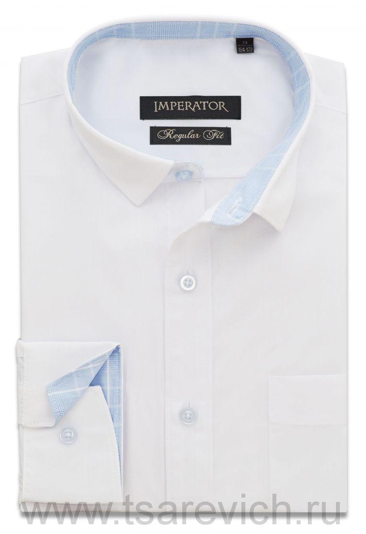 """Рубашки ПОДРОСТКОВЫЕ """"IMPERATOR"""", оптом 12 шт., артикул: PT2000/2 В-П белая"""