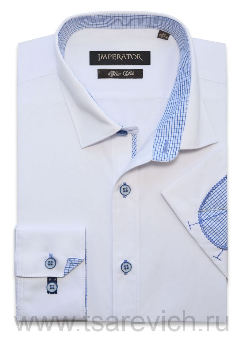 "Рубашки ПОДРОСТКОВЫЕ ""IMPERATOR"", оптом 12 шт., артикул: PT2000_LOK-П  белая"