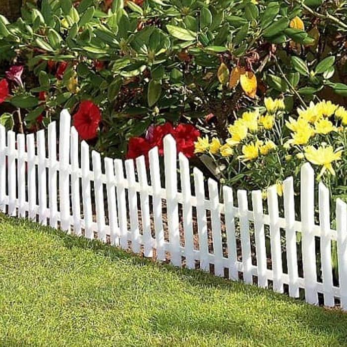 Заборчик декоративный 60x22 см,  Цвет: Белый