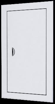 Люк-дверца ревизионная 660х660 с фланцем 600х600 с ручкой стальная с покрытием полимерной эмалью