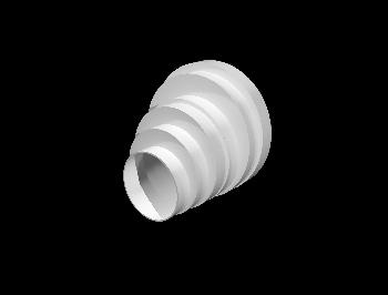 Соединитель круглых воздуховодов пластик D160/150/125/120/100/80