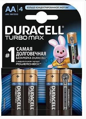 Алкалиновая батарейка AA/LR06 4 шт. DURACELL TURBO