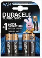 Алкалиновая батарейка AA/LR06 4 шт. DURACELL TURBO