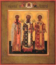 Икона Собор трёх святителей