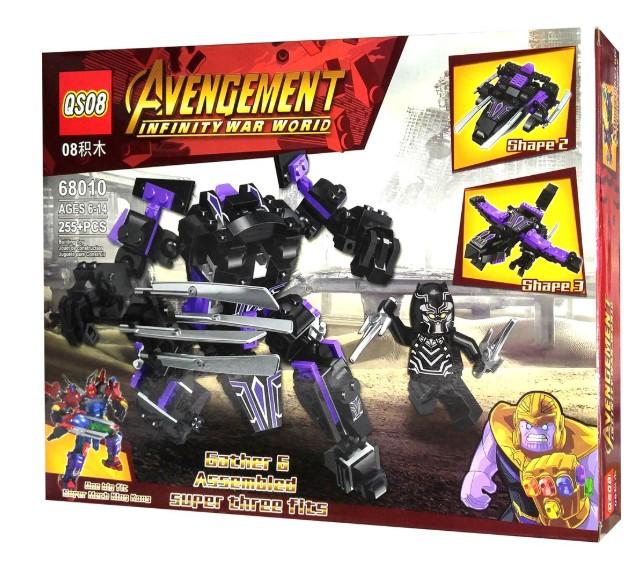 Роботы-трансформеры Мстители Война Бесконечности 3в1 в ассортименте