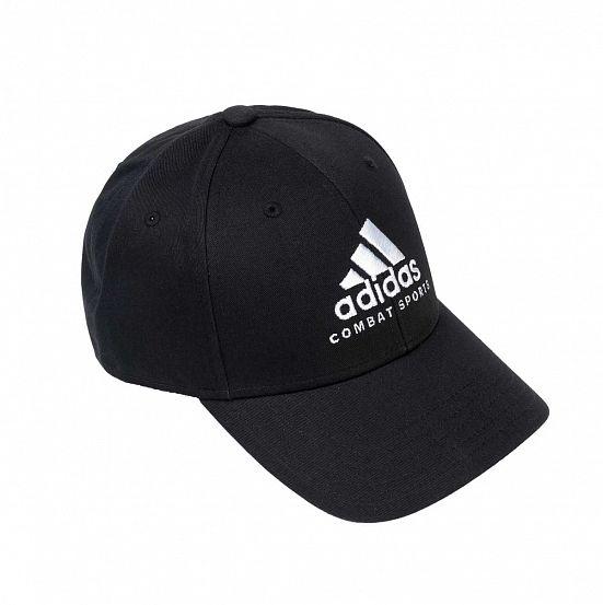 Бейсболка Adidas Baseball Cap Combat Sports черно-белая, размер 58-60см, adiCAP01