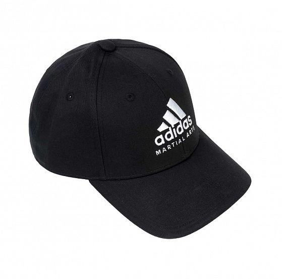 Бейсболка Adidas Baseball Cap Martial Arts черно-белая, размер 58-60см, adiCAP01