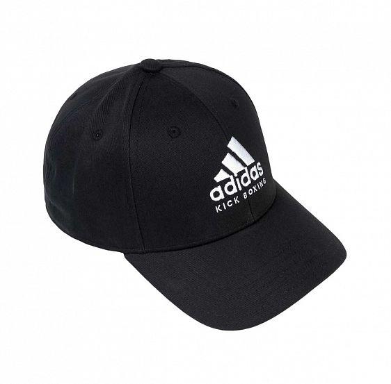 Бейсболка Adidas Baseball Cap Kick Boxing черно-белая, размер 58-60см, adiCAP01