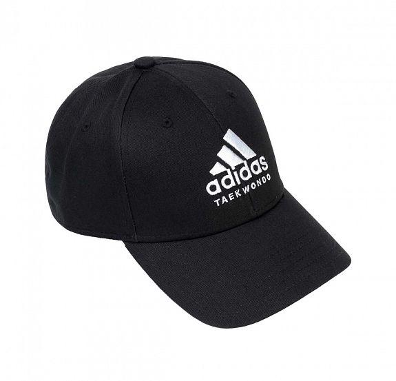 Бейсболка Adidas Baseball Cap Taekwondo черно-белая, размер 58-60см, adiCAP01