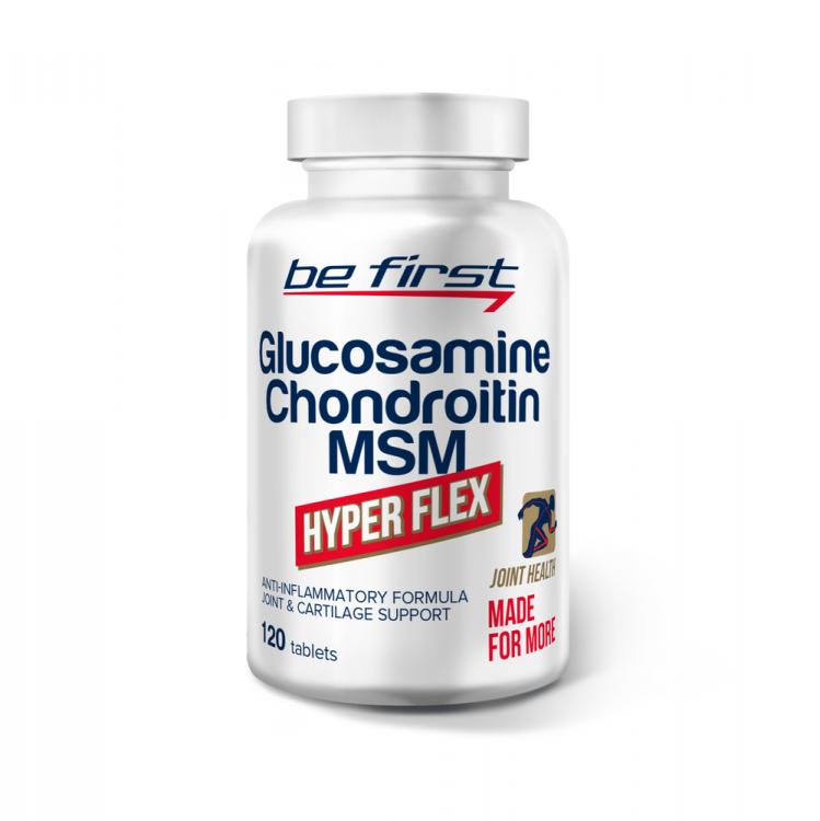 Glucosamine+Chondroitin+MSM Hyper Flex 120 таблеток от be first