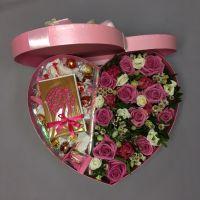 Сердце со сладостями(без открытки)