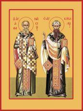 Икона Афанасий Великий Кирилл Александрийский святители