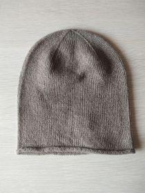 """Кашемировая мягкая классическая тонкая шапка-бини """"Джерси"""",  Классический пшеничный цвет. Otter  Jersey Hat"""