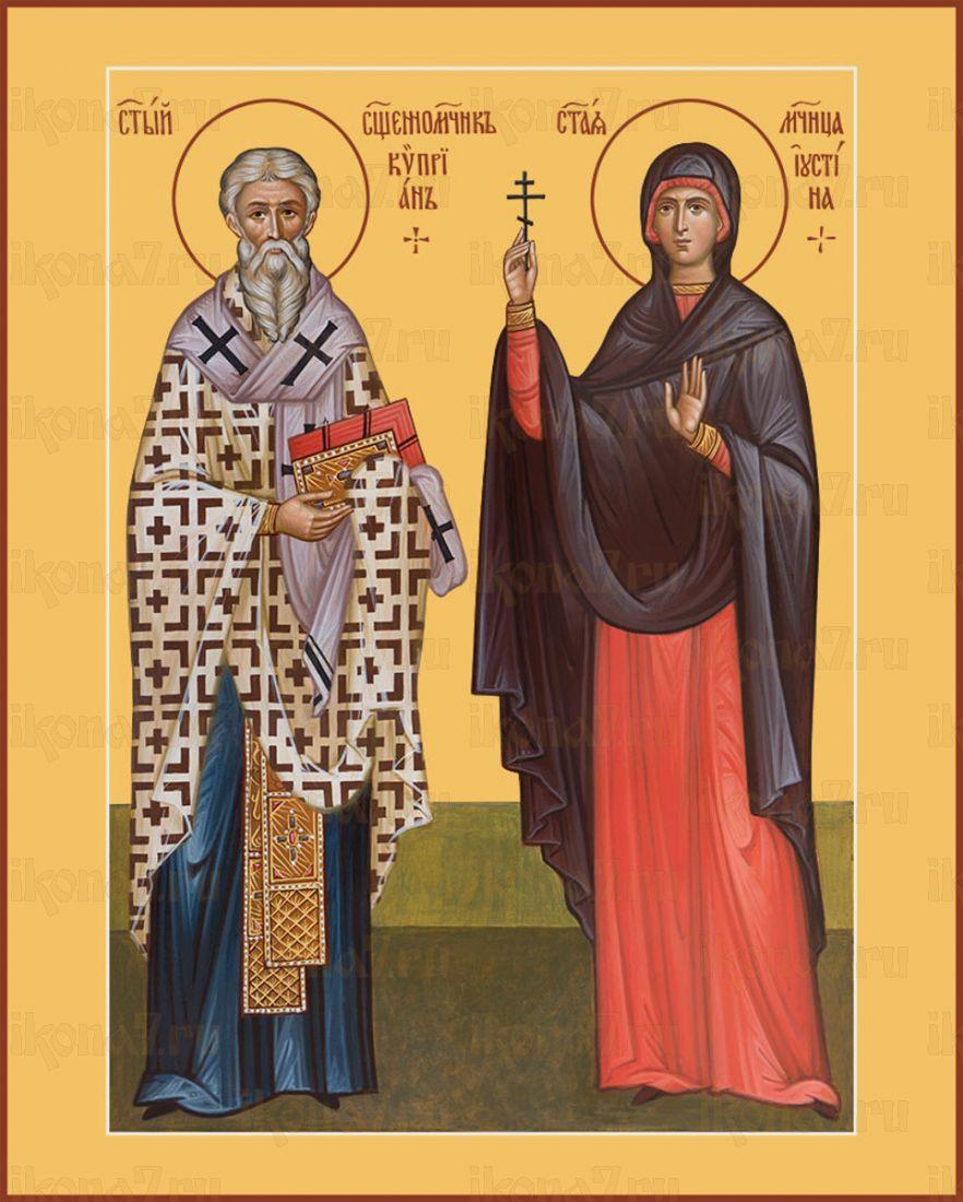 Икона Киприан и Иустина святые мученики