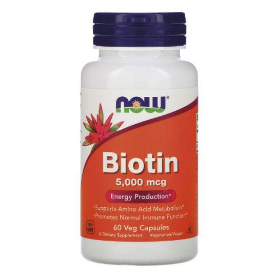 Биотин Now Foods 5000 мкг (60 капсул)