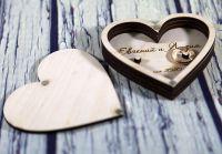 Шкатулка для колец сердце с деревом
