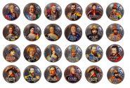 НАБОР 1 РУБЛЬ - РУССКИЕ ЦАРИ и ИМПЕРАТОРЫ РОССИИ 24шт, цветная эмаль