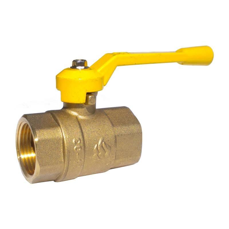 Кран шаровый 11б27п М Ду15 Ру16 г/г рычаг газ